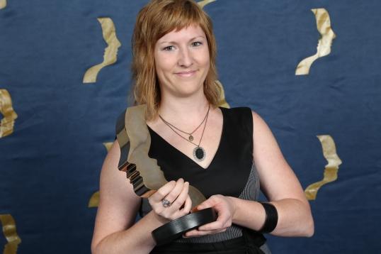 Catherine Legault remporte le prix du Meilleur montage: Magazine pour Ma caravane au Québec. Photo: J.G. Thibodeau