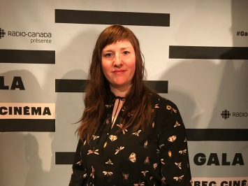 Catherine Legault, finaliste dans la catégorie Meilleur Montage Documentaire au gala Québec Cinéma pour le film Les lettres de ma mère, de Serge Giguère.